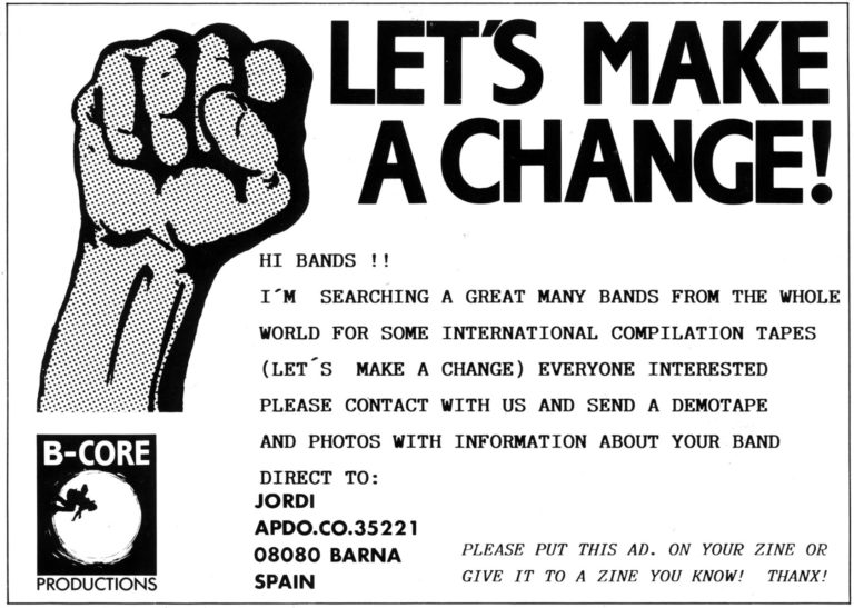 flyer bcore hardcore punk